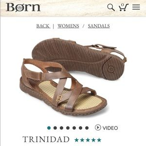 Born Trinidad brown walking sandals leather straps